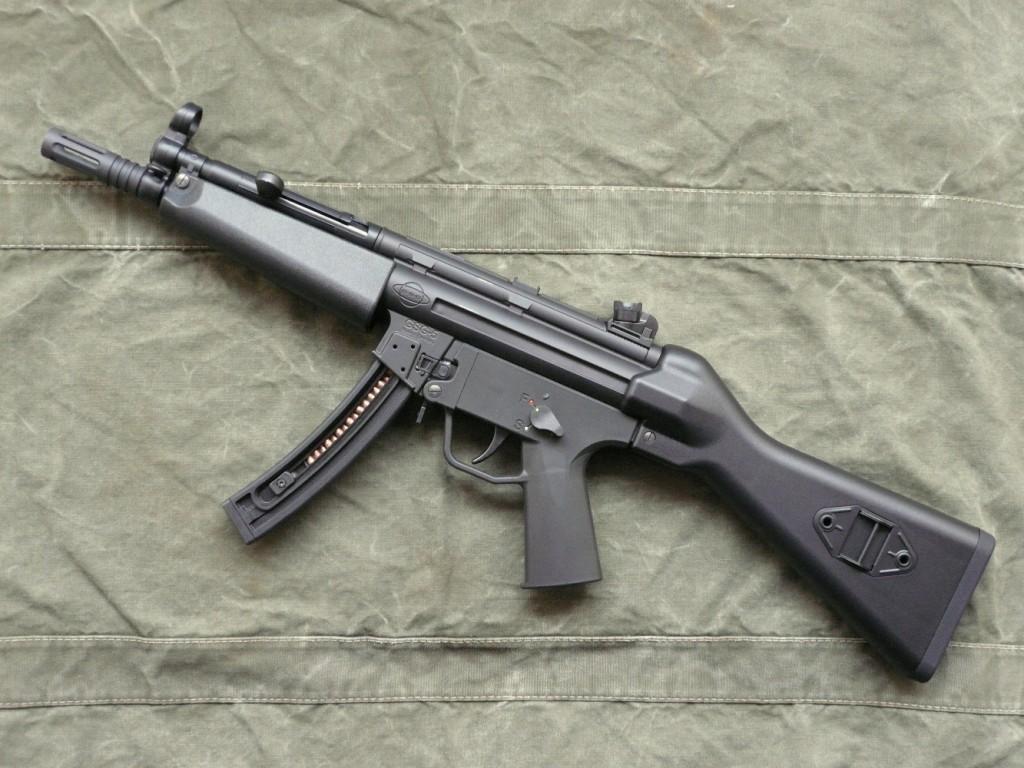 La carabine semi-automatique GSG-5, qui constitue une copie conforme, en calibre .22 Long Rifle, du pistolet mitrailleur Heckler & Koch modèle MP5, bénéficie d'une belle qualité de fabrication. Elle se singularise par sa compacité, sa maniabilité, la grande capacité de ses chargeurs (10 ou 25 coups) et sa polyvalence, grâce aux multiples accessoires dédiés, les mêmes qui équipent le HK MP5.