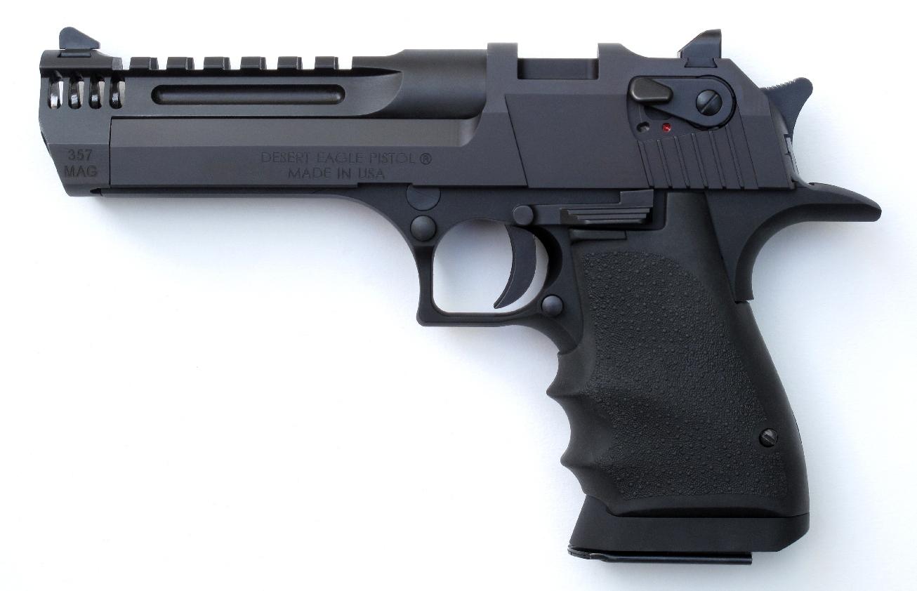 Pistolet semi-automatique Magnum Research modèle Desert Eagle Black Alu L5 Lightweight calibre .357 Magnum.