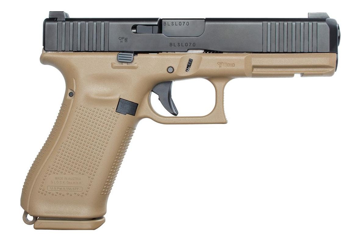 Pistolet Glock 17 Gen5 armée française calibre 9 mm Parabellum.