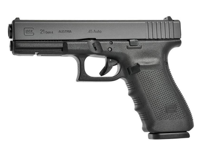 Pistolet semi-automatique Glock 21 Gen4 de calibre .45 ACP