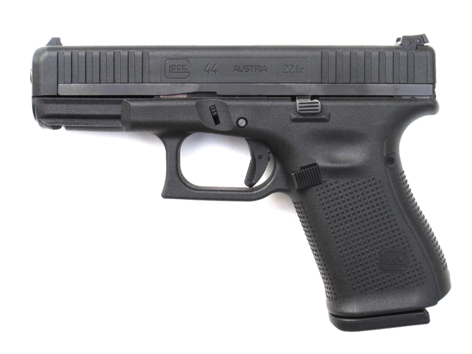 Pistolet semi-automatique Glock modèle 44 de calibre .22 Long Rifle.