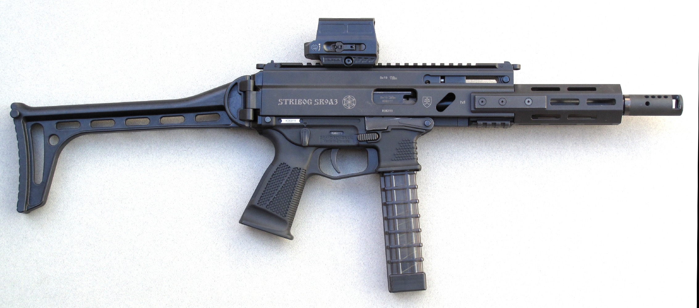 Carabine semi-automatique Grand Power Stribog SR9A3 en calibre 9mm Parabellum