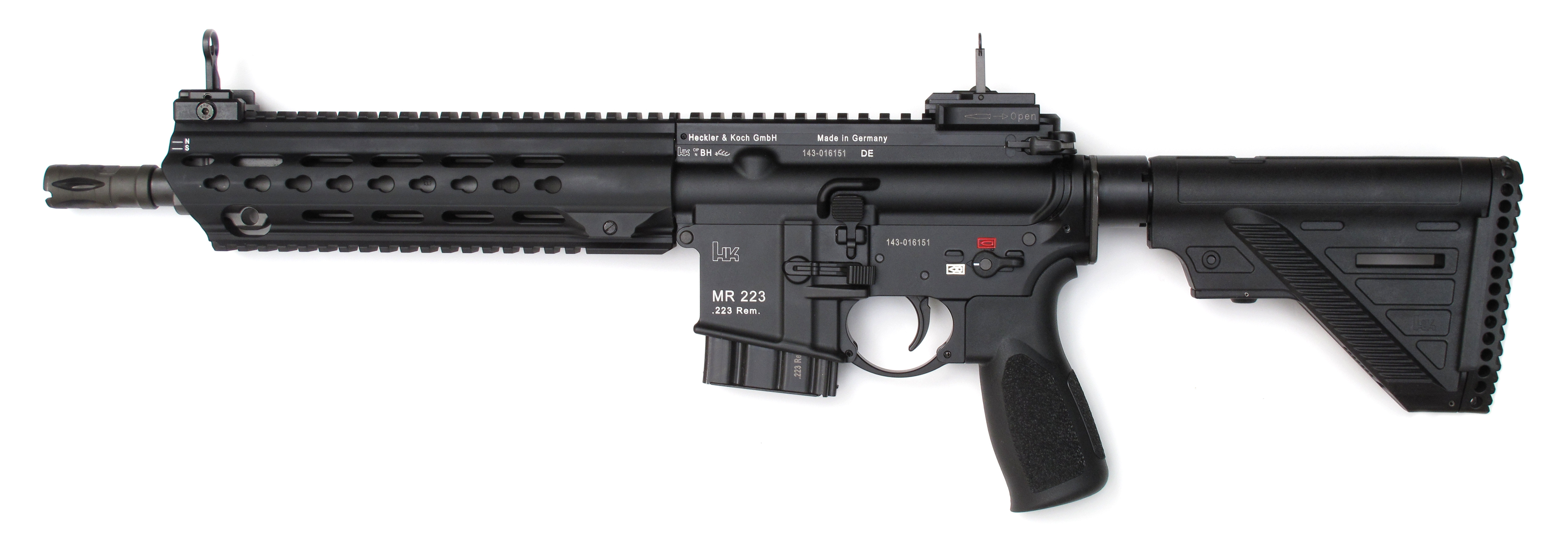 Carabine HK MR223 A3 Sporting Rifle en calibre 5,56 mm x 45 mm.