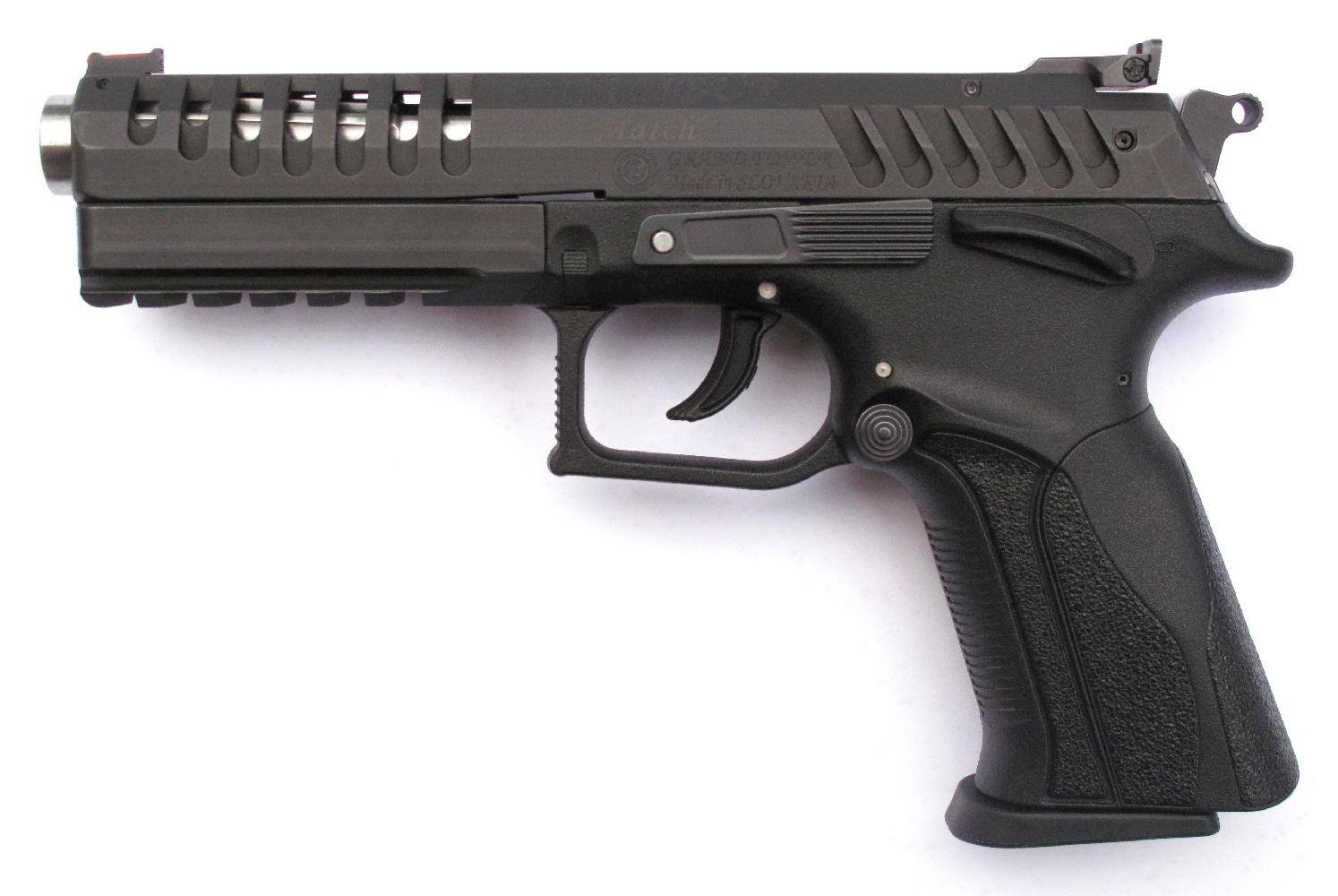 Pistolet semi-automatique Grand Power X-Calibur « Match » en calibre 9 mm Parabellum.