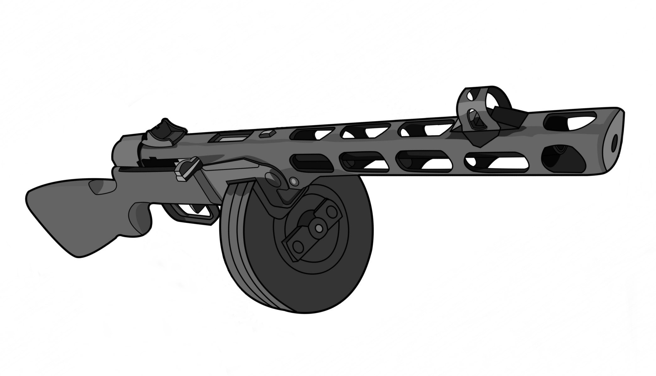 PPsh-41 en calibre 7,62 x 25 mm Tokarev