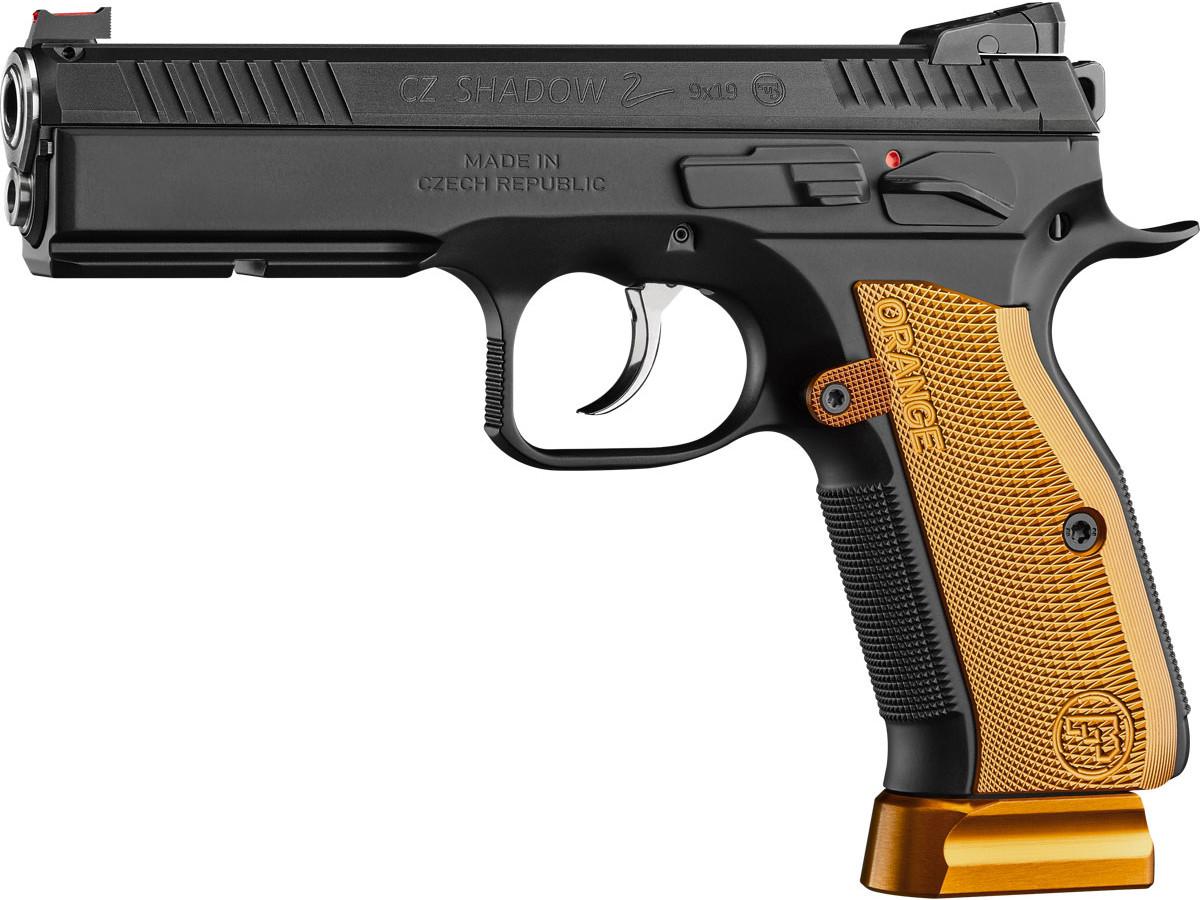 Pistolet semi-automatique CZ 75 Shadow 2 « Orange » en calibre 9mm Parabellum.