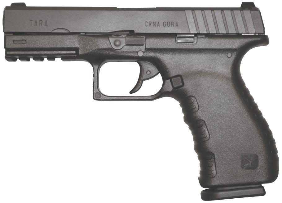 Pistolet semi-automatique TARA Perfection modèle TM-9 de calibre 9mm Parabellum.