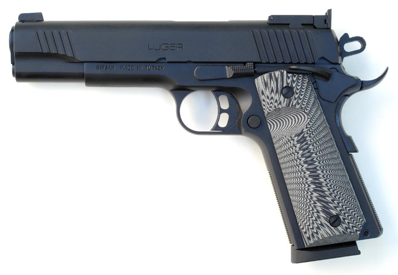 Pistolet Luger MC 1911 « Match » en calibre .45 ACP