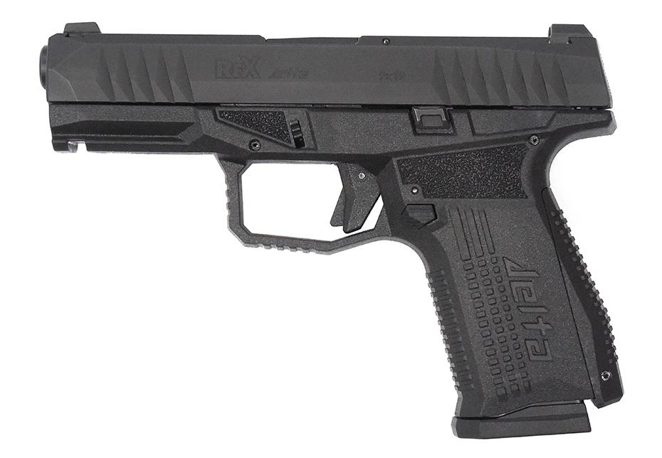 Pistolet semi-automatique compact alpha REX Delta de calibre 9mm Parabellum.