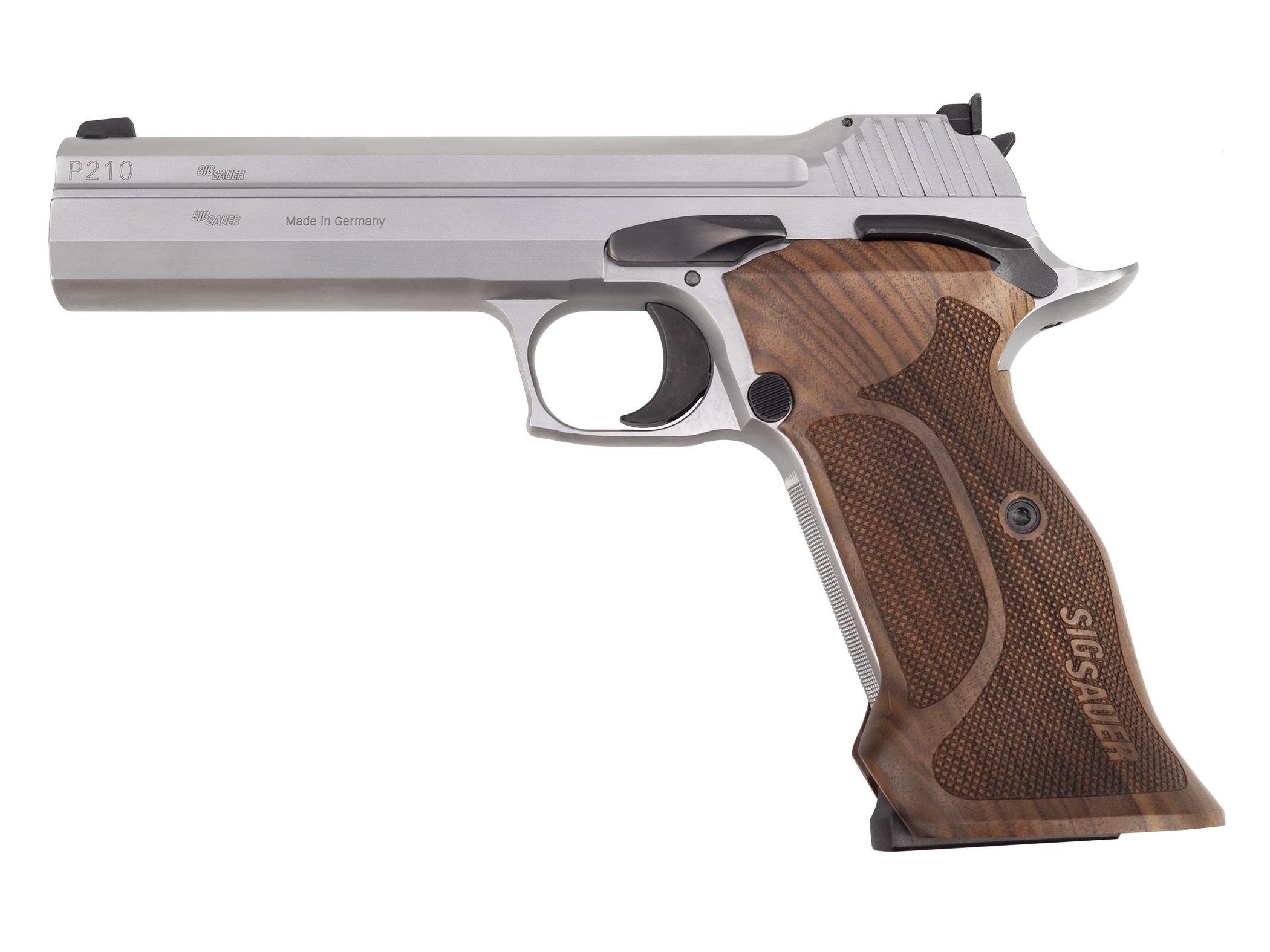 Pistolet semi-automatique SIG-Sauer modèle P210 Super Target de calibre 9mm Parabellum