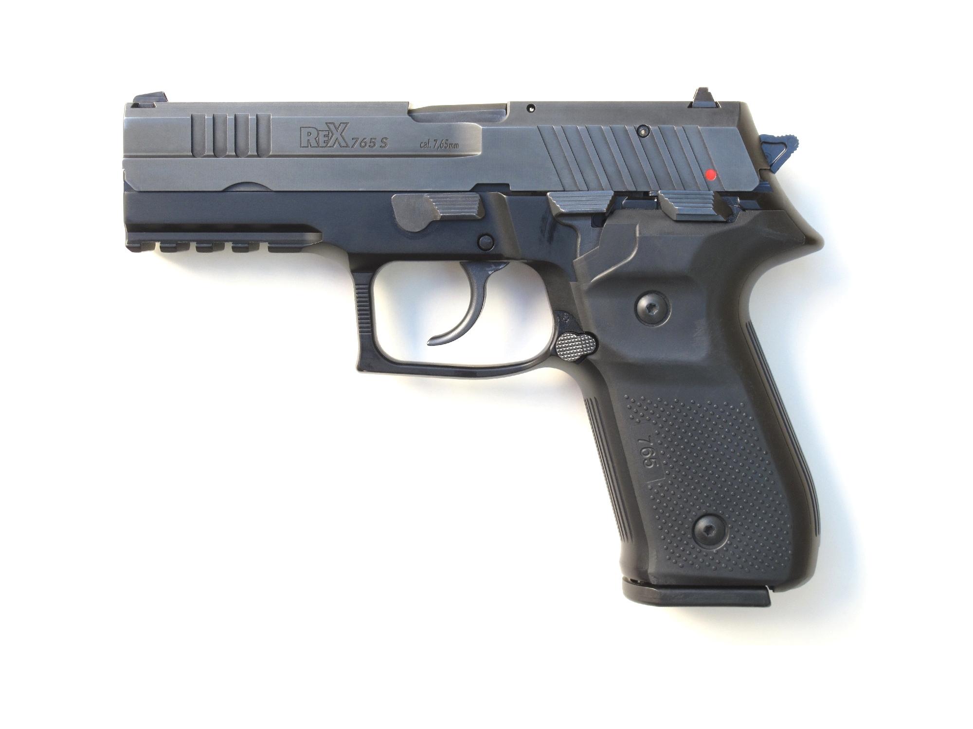 Pistolet arex modèle REX 765 S en calibre 7,65 mm Browning.