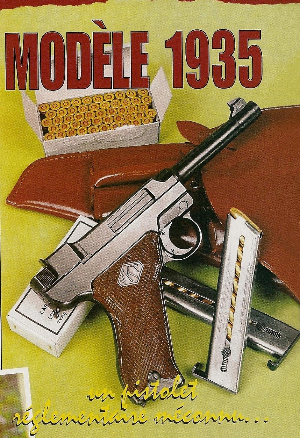 Le Lahti modèle 1935 est un pistolet de calibre 9 mm Parabellum qui fonctionne en mode semi-automatique au moyen d'une culasse calée, d'une platine à simple action, d'un chien hammerless et de chargeurs amovibles d'une capacité de huit coups.