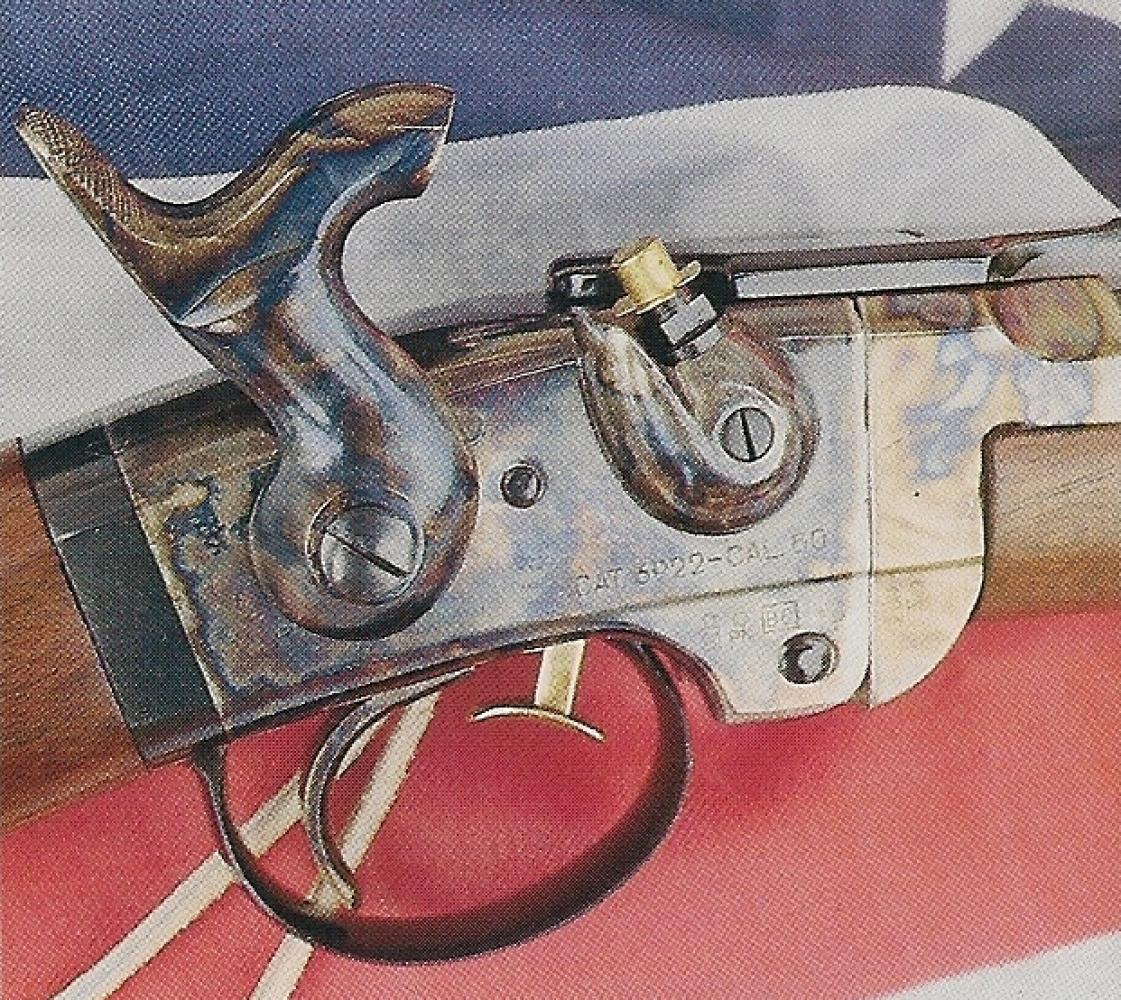 La mise à feu s'effectue de façon classique, par percussion d'une capsule placée sur la cheminée, mais le chargement fait appel à une douille en laiton, contenant la balle et la charge de poudre noire, que l'on introduit directement dans la chambre grâce à la culasse « à brisure » dont cette arme est équipée.