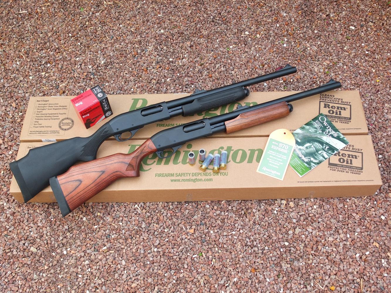 Le modèle 870 « Express » de la firme américaine Remington est proposé, au choix, avec une monture en polymère ou en bois lamellé collé. Dans les deux cas, il dispose d'un canon de 51 cm dont l'âme comporte huit rayures hélicoïdales. La prise de visée est assurée par de robustes éléments de visée en acier constitués par une hausse sur rampe, réglable en site et en azimut et un guidon installé à queue d'aronde sur son embase.