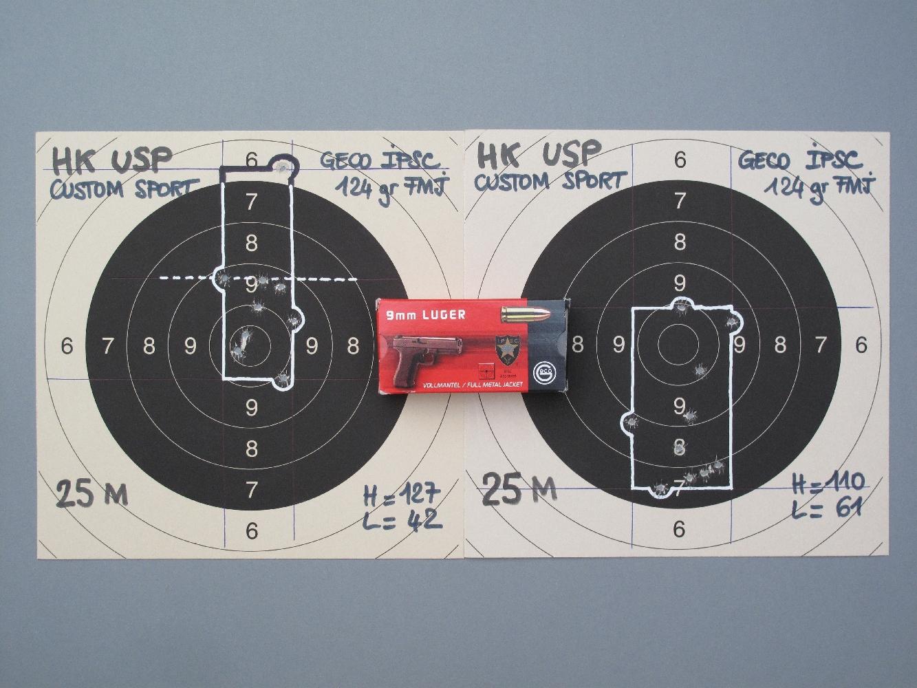 Ce contre test, réalisé avec les munitions IPSC manufacturées par Geco, tend à démontrer que les flyers ne proviennent pas d'un défaut de l'arme ou de la munition, mais plutôt des effets du hasard combinés avec la précision globale de l'arme. Si le second groupement est meilleur, plus homogène parce qu'il ne comporte aucun flyer, il n'est pas pour autant à l'image des 9 impacts extrêmement serrés du premier groupement.