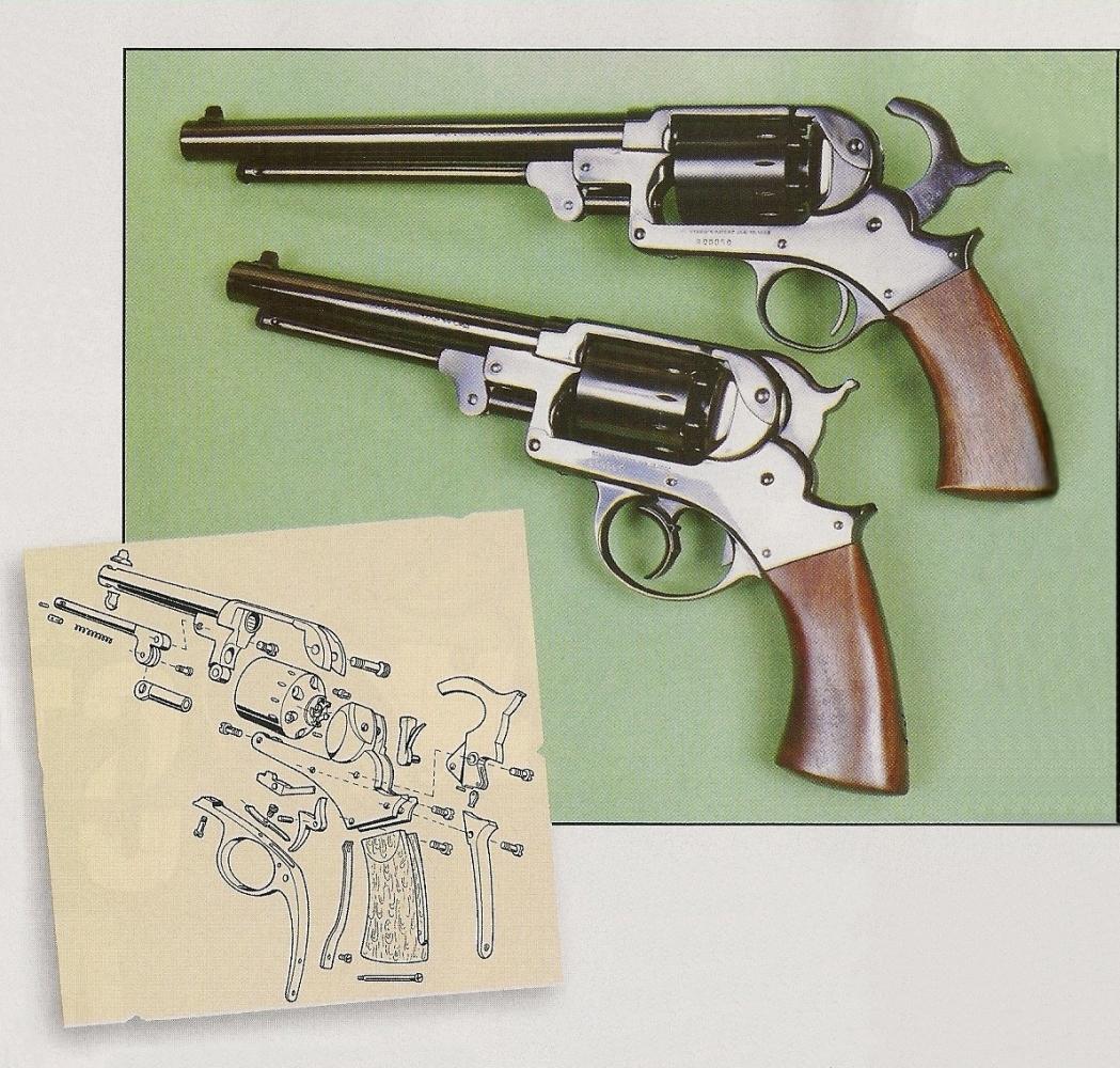 Le fabricant italien Pietta a réalisé non pas une, mais deux répliques des revolvers Starr. Le modèle 1858 à double action se démarque par son pontet de grande taille et son chien à petite crête. Le modèle 1863, qui fonctionne uniquement en simple action, reçoit un pontet de petite dimension et une crête de chien allongée.