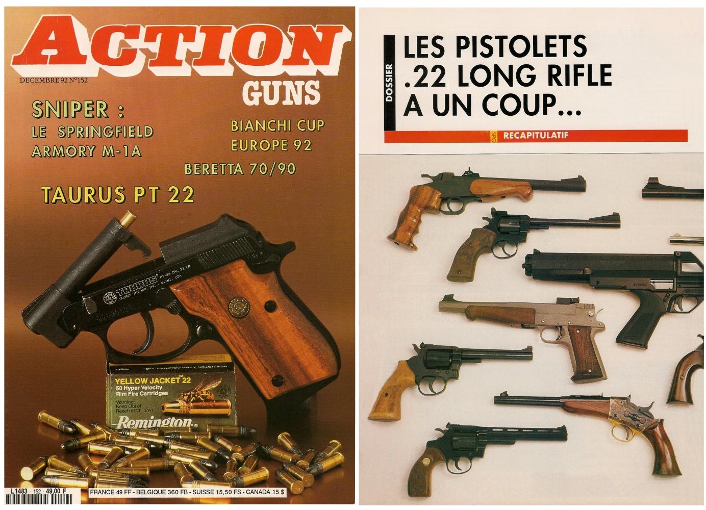 Un dossier complet sur les pistolets à un coup, regroupant l'étude de seize modèles différents, avait été publié sur 10 pages dans le dans le magazine Action Guns n° 152 (décembre 1992).