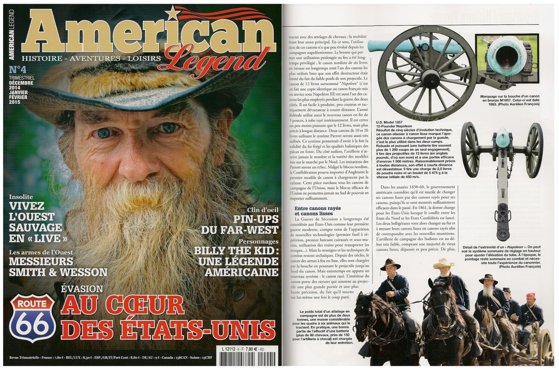 Ceux qui s'intéressent à l'artillerie trouveront un article de 6 pages consacré aux canons de la guerre de Sécession dans le numéro 4 du magazine American Legend, décembre 2014/janvier-février 2015.