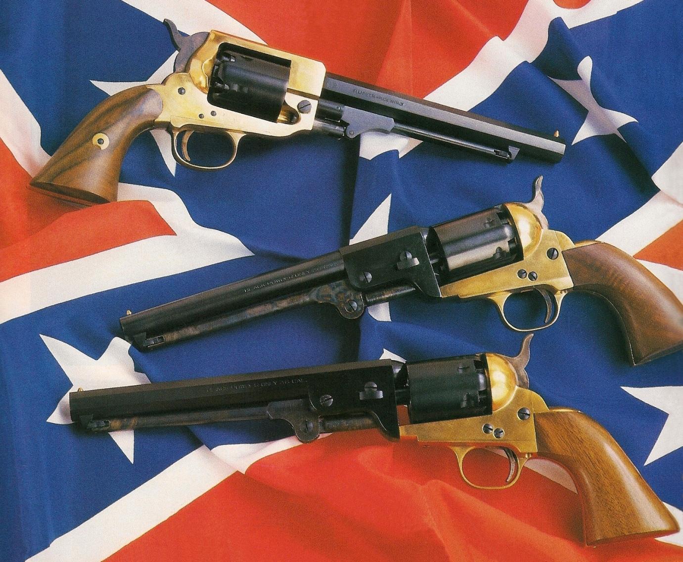 L'amateur de répliques peut se procurer, pour une somme relativement modique puisque les modèles à carcasse en laiton sont les moins chers de la gamme, une copie relativement fidèle des rarissimes revolvers sudistes « Spiller & Burr », « Griswold & Gunnison » et « Schneider & Glassick ».