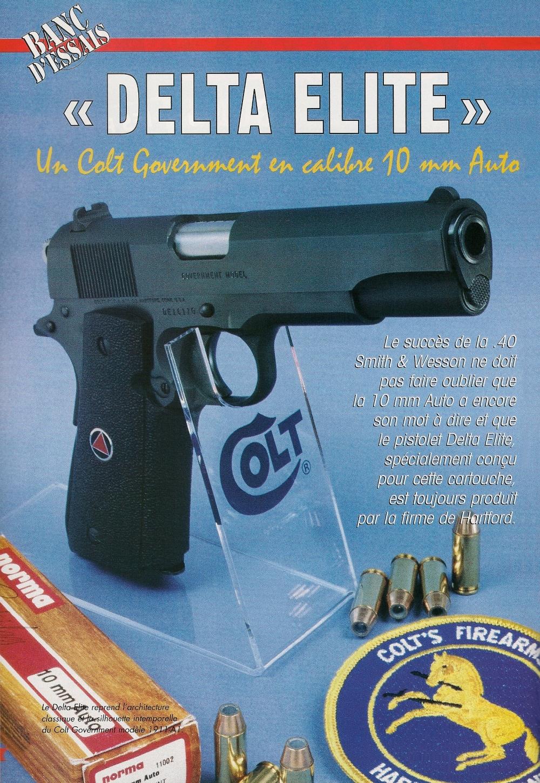 Le Delta Elite reprend l'architecture classique et la silhouette intemporelle du Colt Government modèle 1911-A1. Sa poignée reçoit des plaquettes antidérapantes en néoprène, ornées du sigle de la Delta Force en lieu et place de l'habituel médaillon Colt.