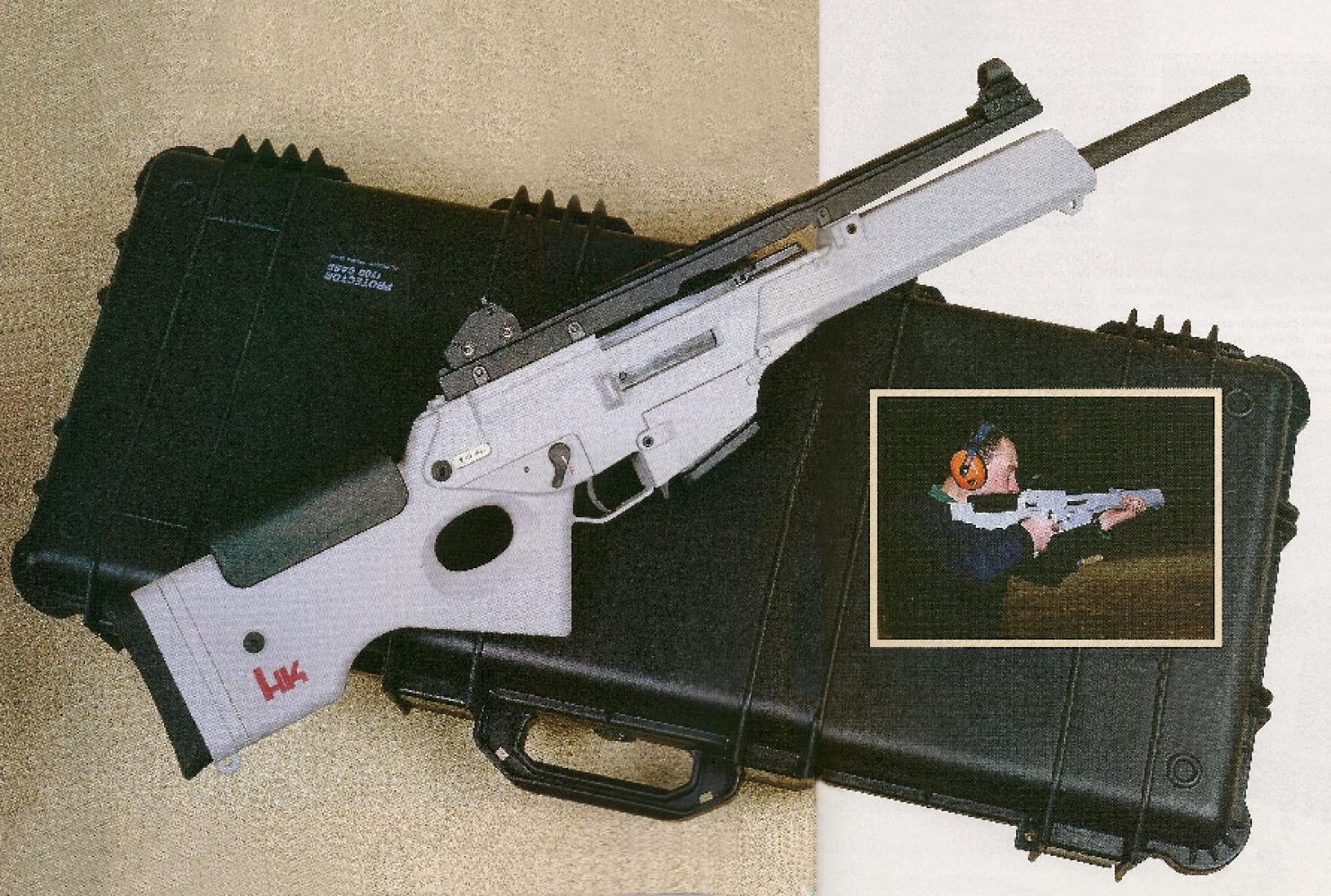 S'il ne peut renier son origine militaire, le modèle SL-8 bénéficie quand même d'une ligne beaucoup plus agréable et de couleurs plus gaies que le fusil d'assaut G36R dont il est directement issu.