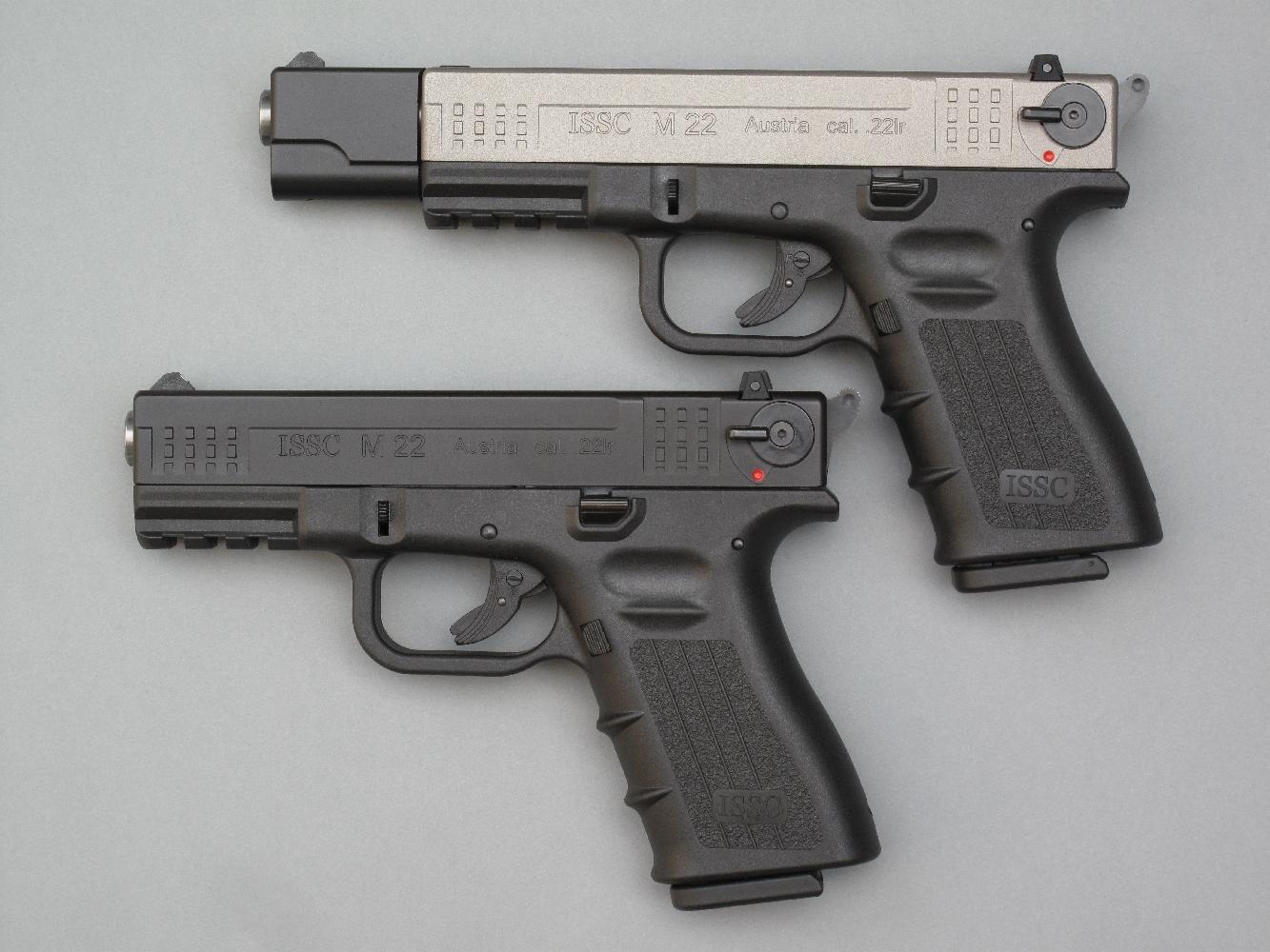 Ces pistolets sont tous deux équipés d'un levier de sûreté ambidextre qui fait également fonction de « decocking » afin de permettre de désarmer instantanément le marteau sans risque de départ intempestif.