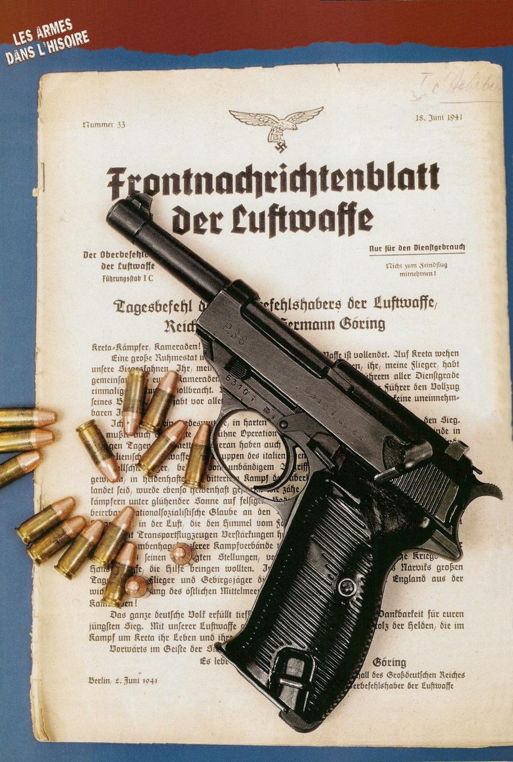 Proche, par son architecture, du Beretta 92, le P-38 apparaît comme un pistolet semi-automatique moderne dont le grand âge est uniquement trahi par la contenance et le mode de verrouillage de son chargeur de 8 coups.