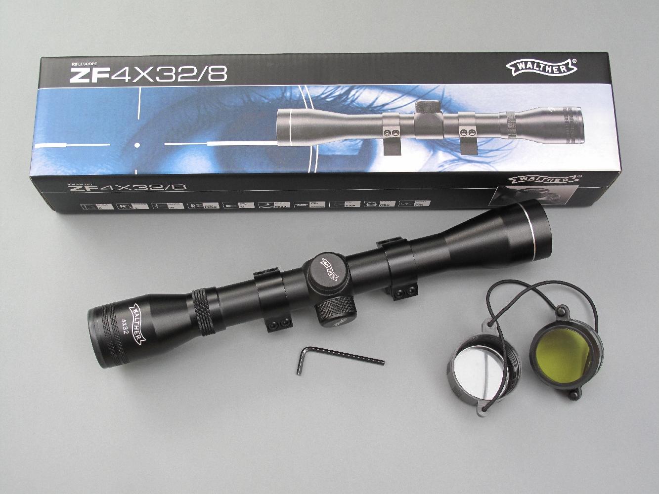 Un vaste choix de modèles s'offre à tout possesseur d'une carabine de calibre .22 Long Rifle, qu'il s'agisse de lunettes grossissantes ou, comme ici, d'un viseur reflex installé grâce à un adaptateur de rail (11 mm/Picatinny).