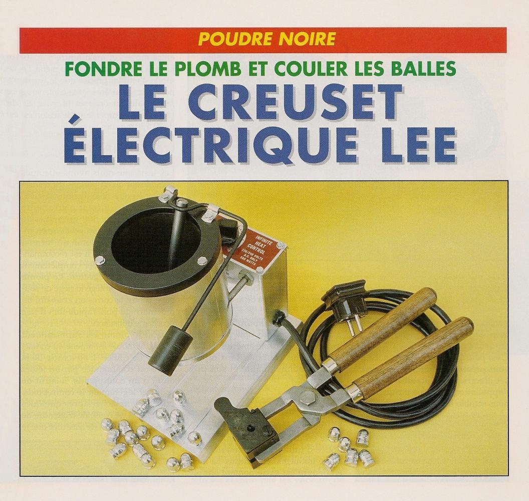 Le creuset électrique Lee est muni d'un thermostat réglable et d'une valve, située au fond du creuset, dont l'ouverture est commandée par un levier. C'est uniquement la force appliquée par le contrepoids qui assure la fermeture et l'étanchéité de la soupape.