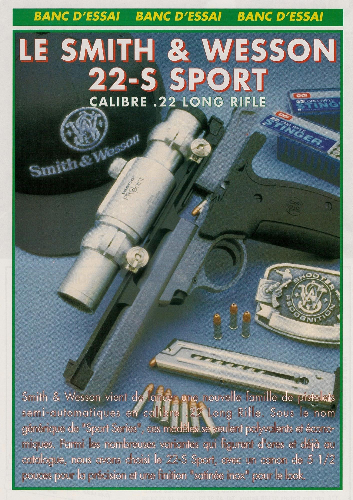 S&W 22-S Sport_ouverture