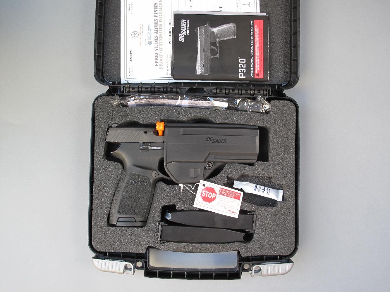 Essai armes pistolets sig sauer p320 full size et for Temoin chambre vide sig sauer