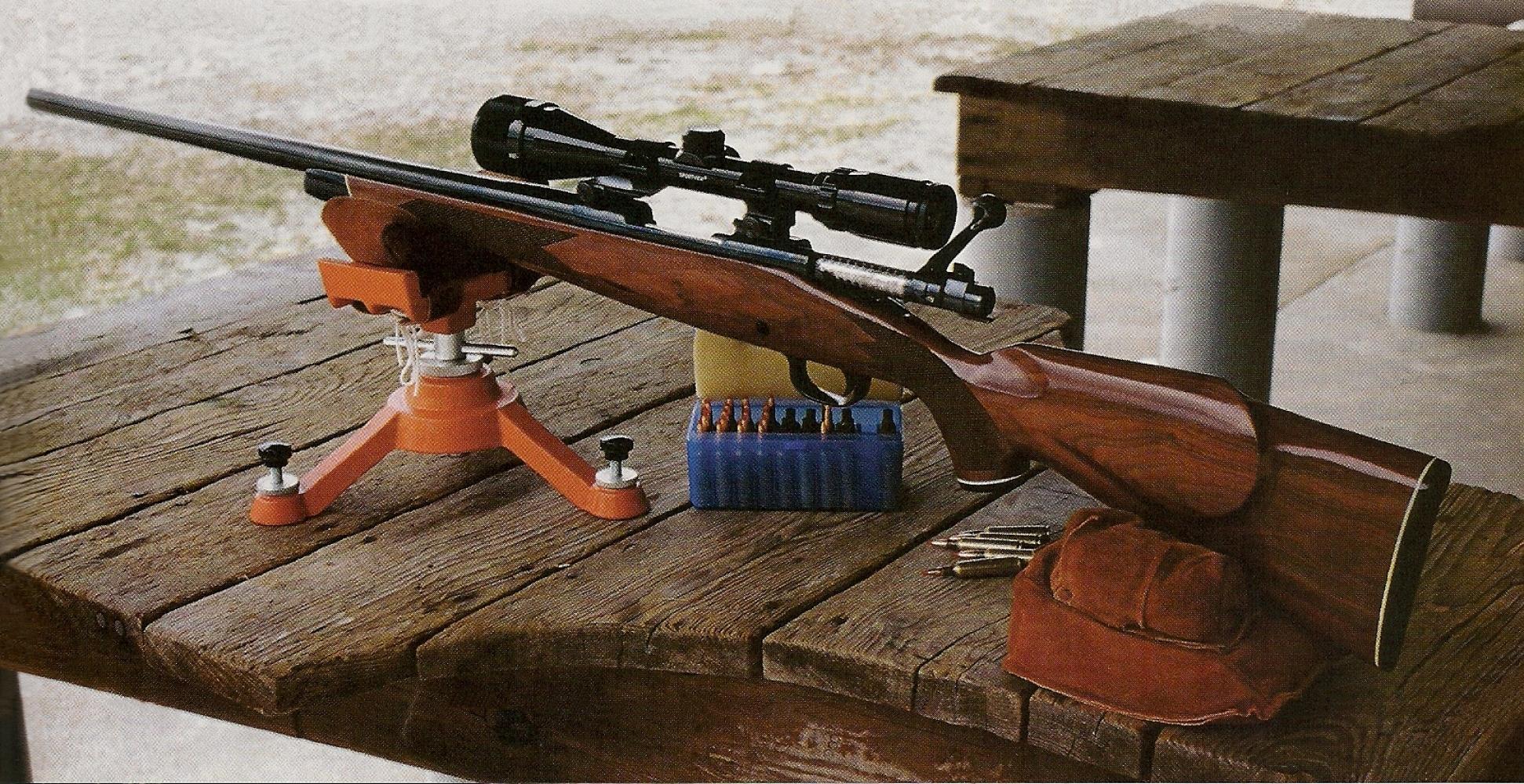 La Winchester 70 Heavy Varmint XTR de notre test reçoit une lunette Bushnell Sportview 4-12 x 40, un modèle à grossissement variable économique mais d'excellente qualité. Ainsi équipée, l'arme accuse un poids de 4,870 Kg sur la balance.