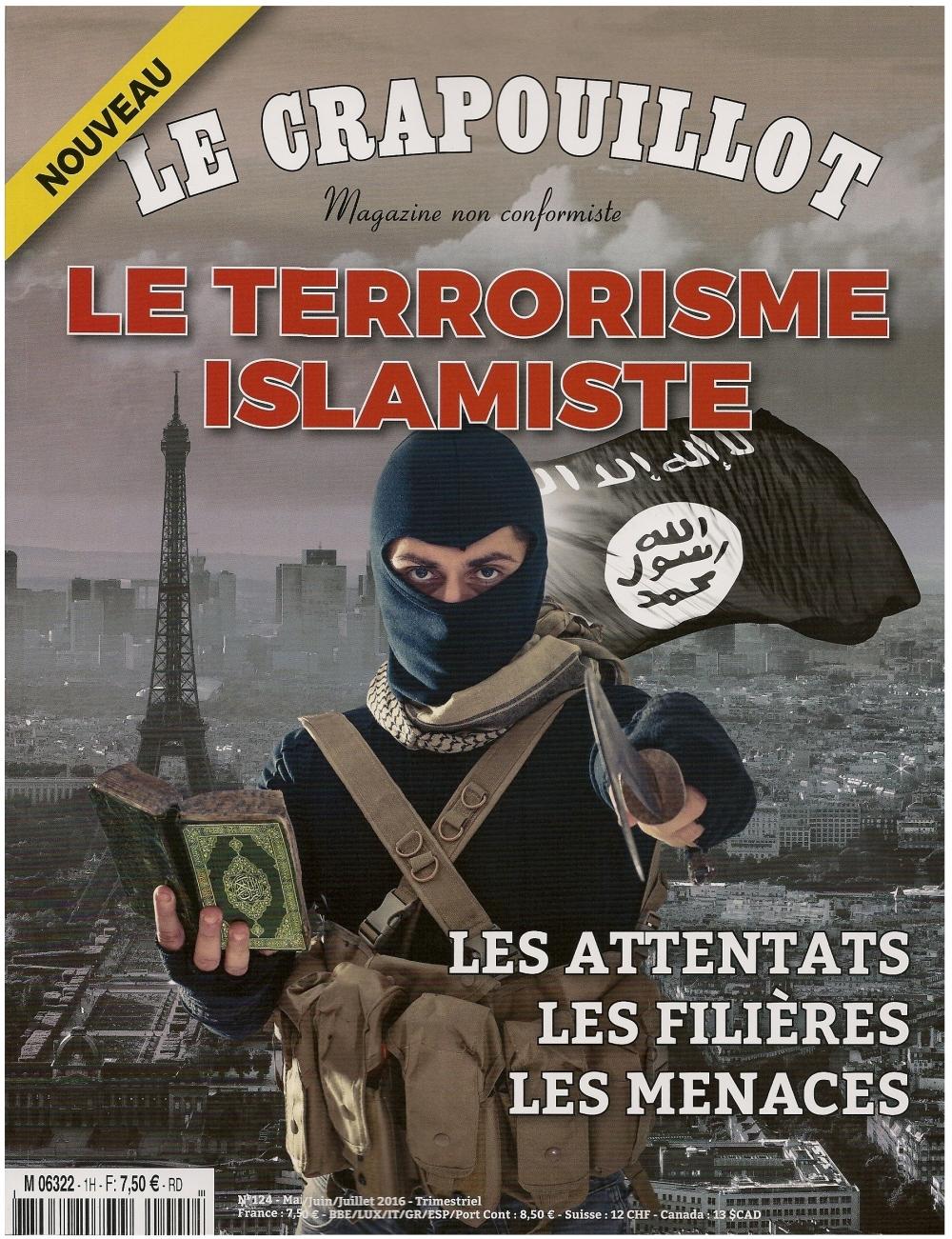 Ce premier numéro de mai/juin/juillet 2016 du magazine Le Crapouillot est consacré au dossier brûlant du terrorisme islamiste.