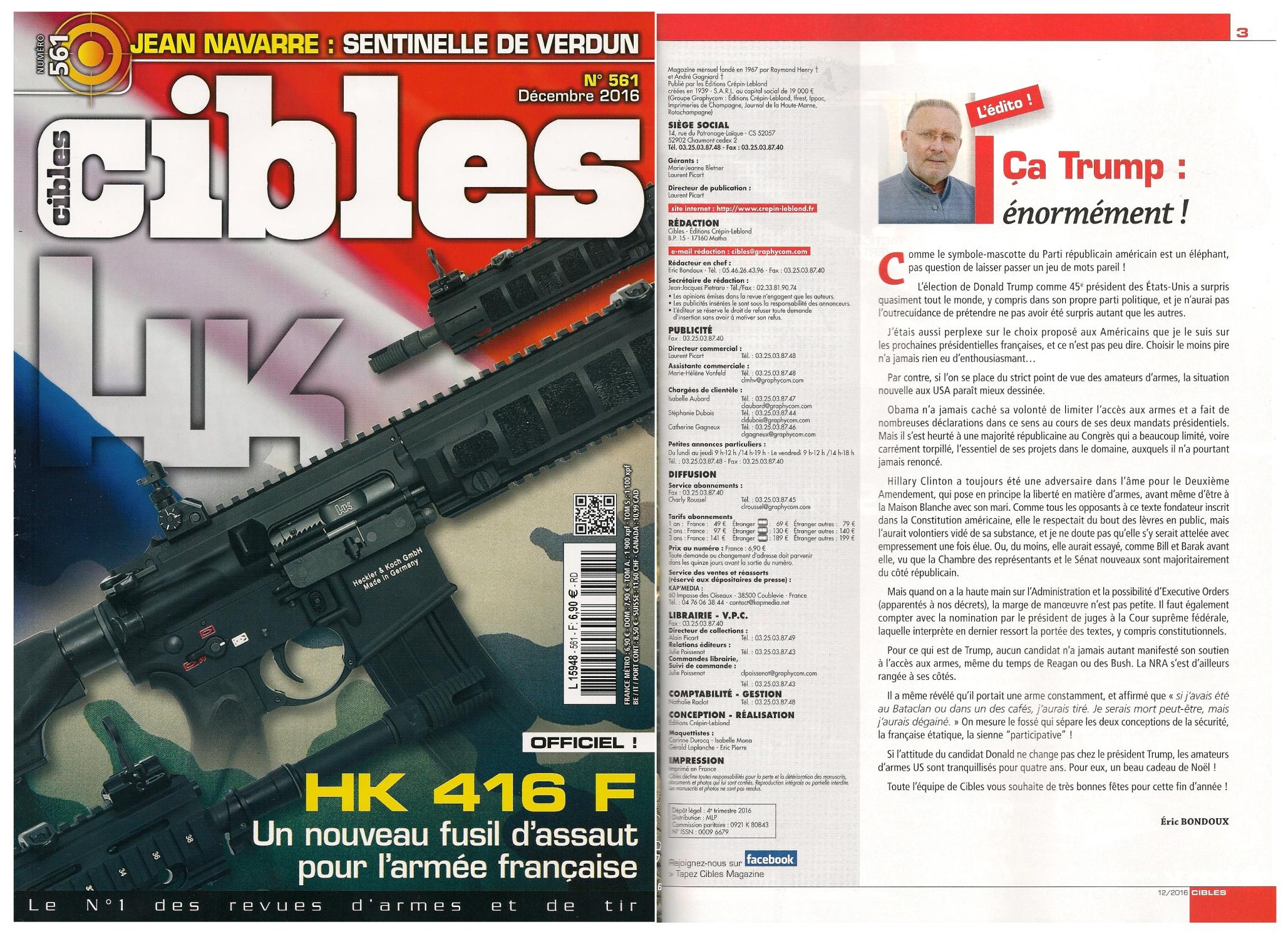 Magazine Cibles n°561 - décembre 2016