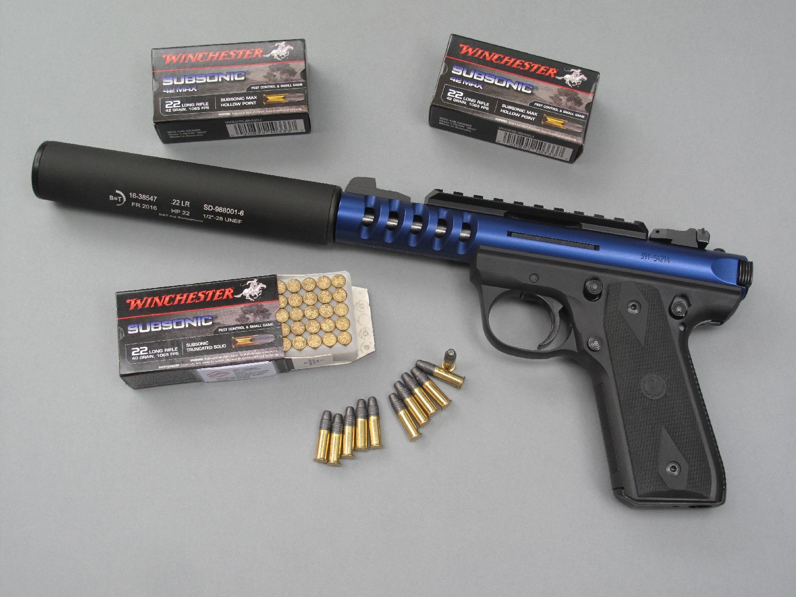 Ce pistolet dispose d'un filetage au standard ½-28 UNEF permettant l'installation d'un modérateur de son, à l'image du Brügger & Thomet HP 22 que nous avons utilisé sur notre arme de test.