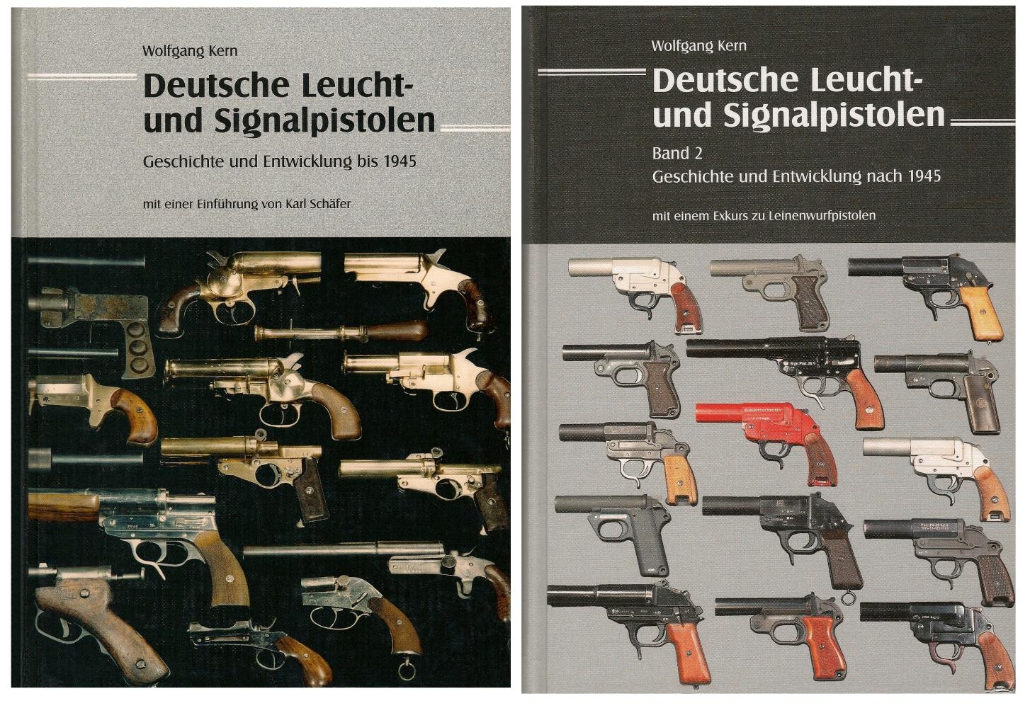 « Deutsche Leucht- und Signalpistolen » par Wolfgang Kern, tomes 1 (jusqu'à 1945) et tome 2 (après 1945).