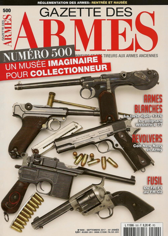Gazette des Armes n°500 septembre 2017_petite