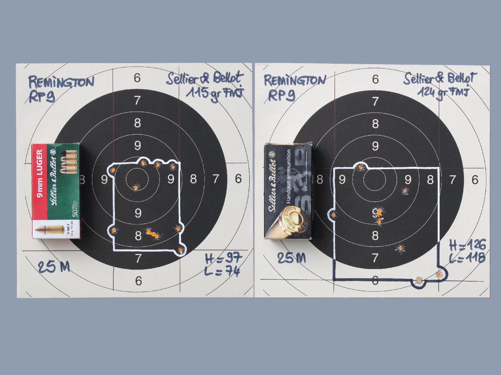 Si elle reste suffisante pour une arme de combat essentiellement destinée à être utilisée à courte distance, sa précision en cible à la distance de vingt-cinq mètres se révèle médiocre aux yeux d'un tireur sportif et elle ne tient pas la comparaison avec certains modèles concurrents.
