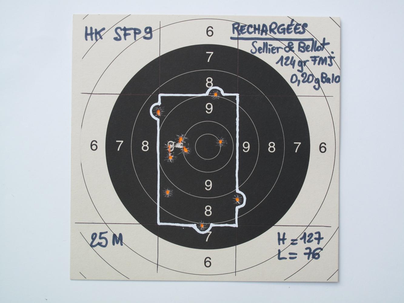 Nos cartouches chargées à la poudre Ba10 permettent d'obtenir dans cette arme une précision convenable, ce qui est tout à fait exceptionnel avec ces cartouches sous-chargées. Malheureusement, le tir ne peut s'effectuer qu'au coup par coup, le recul n'étant pas suffisamment vif pour assurer l'éjection de la douille vide.
