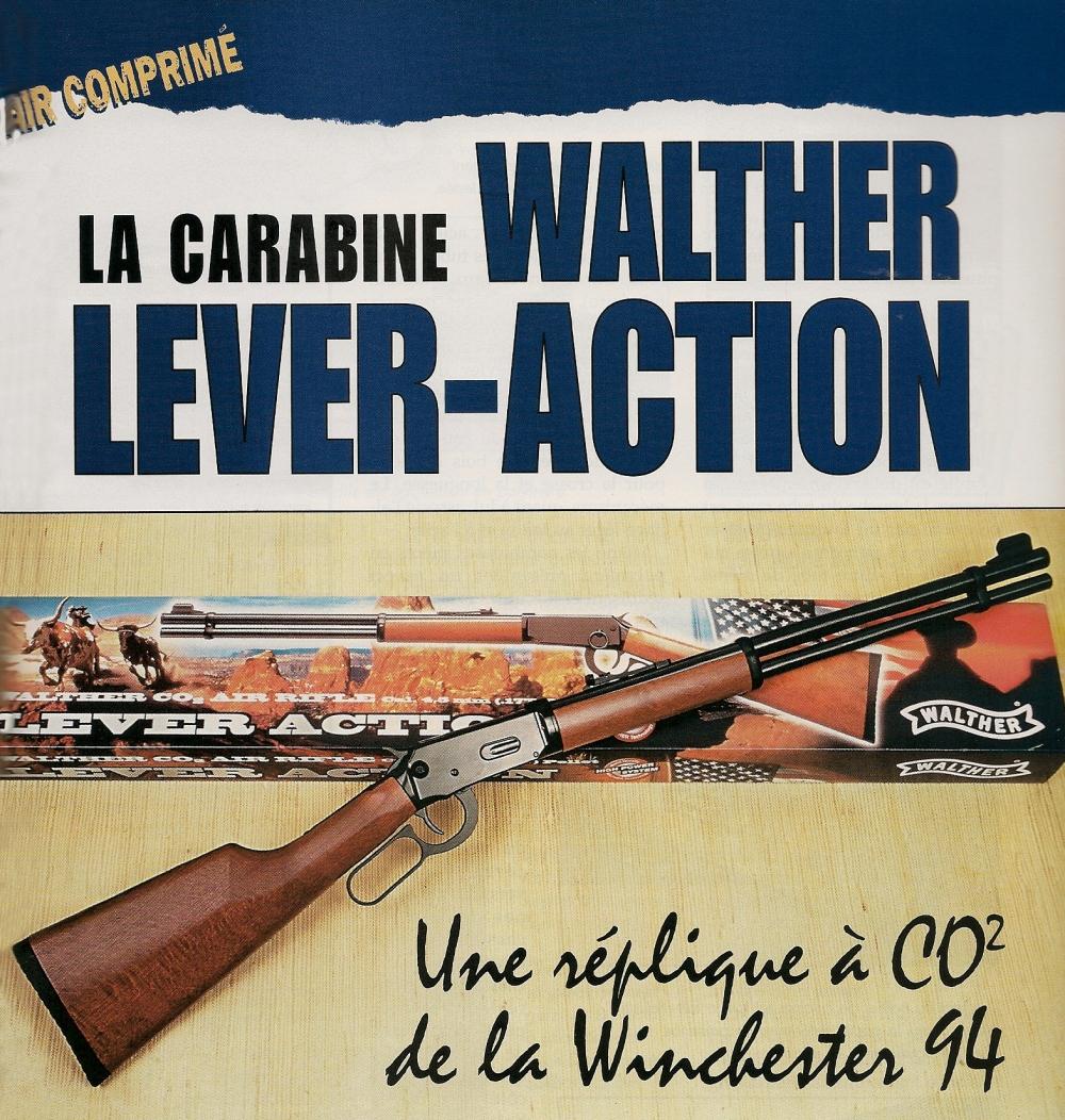 La carabine à CO2 Walther Lever-Action se présente comme une convaincante réplique de la célèbre Winchester 1894.