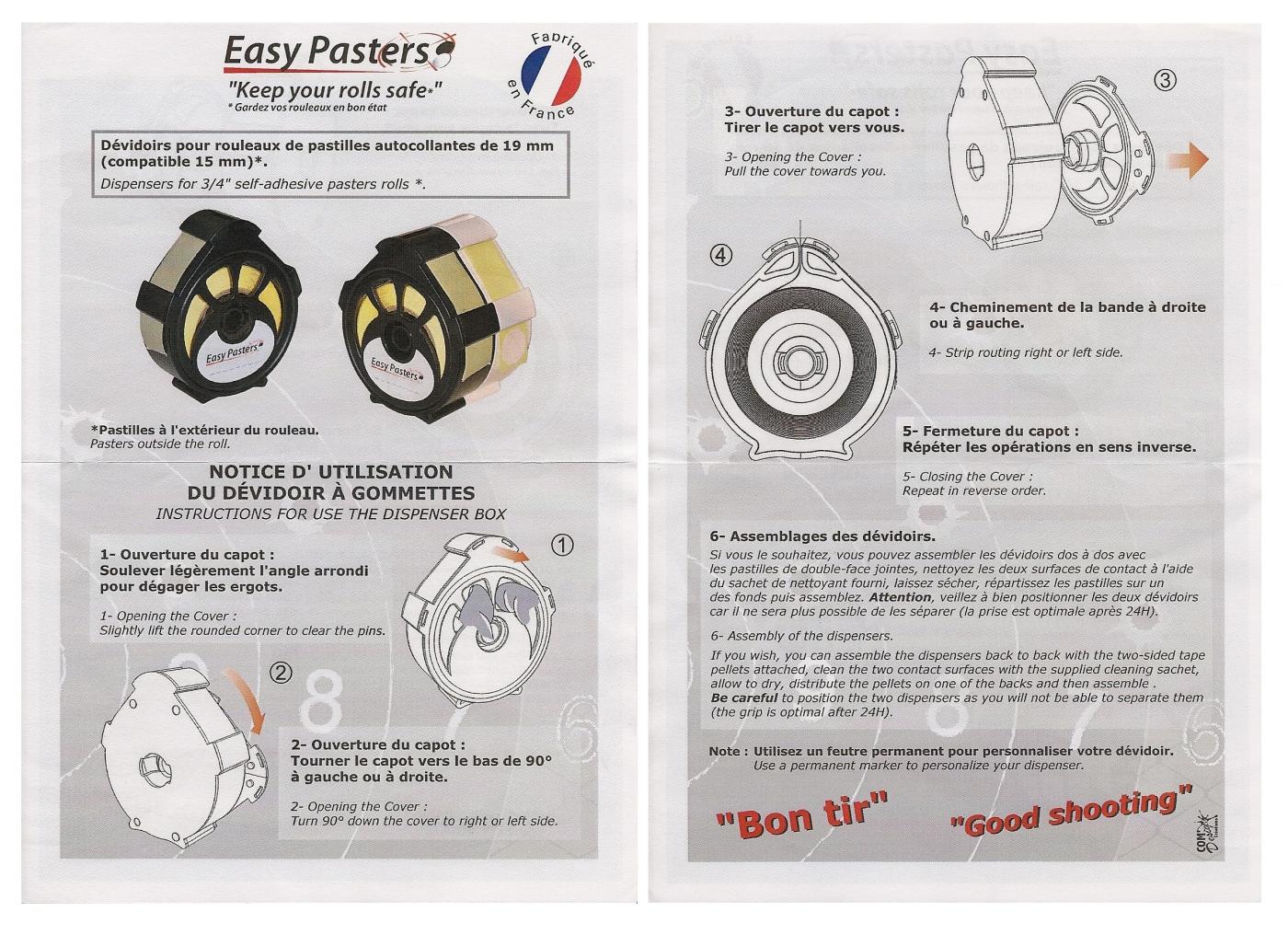 Ce produit de conception et de fabrication française est accompagné par un mode d'emploi détaillé.