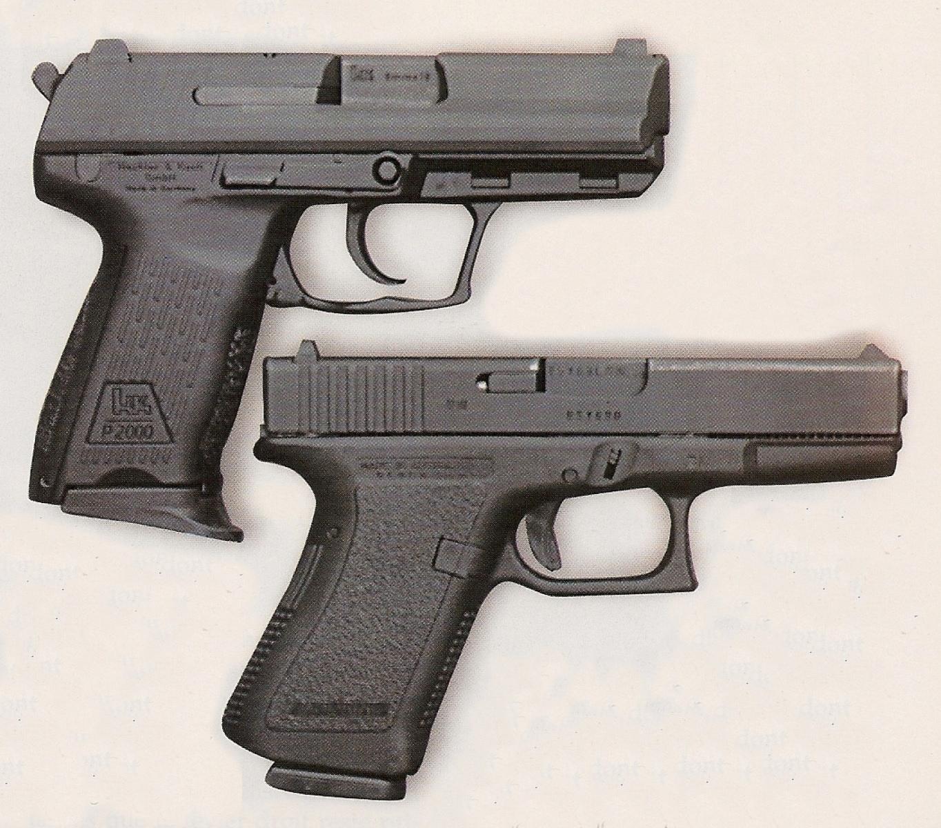 Le HK P-2000 présente un poids et des dimensions qui se rapprochent très sensiblement de celles du G-19, le modèle compact de la gamme Glock.