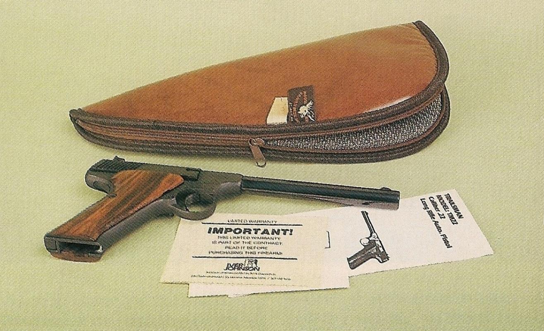 Le pistolet « Trailsman » bénéficie d'uneprésqentation originale et pratique, du fait qu'il est livré dans une housse capitonnée.