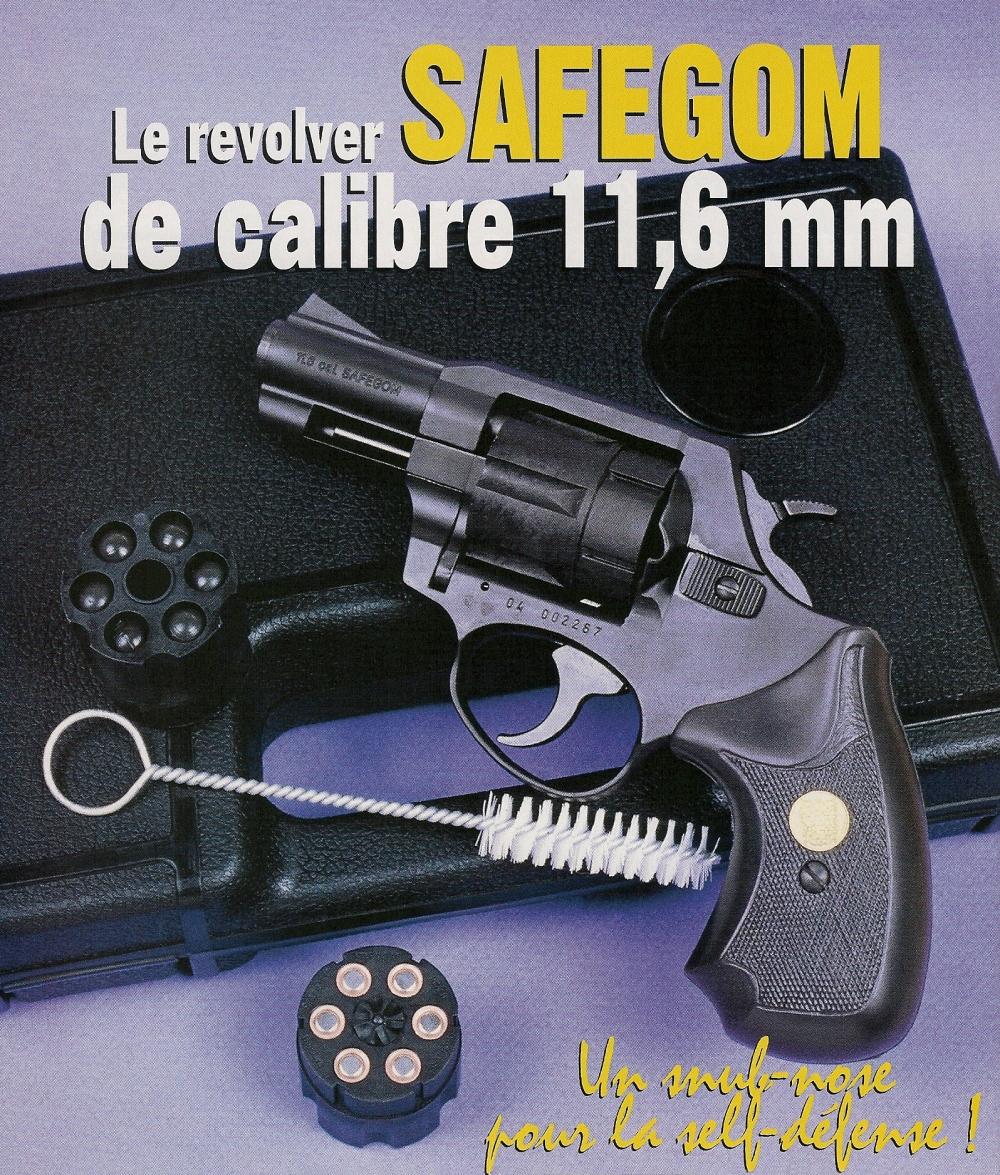 Le Safegom présente la silhouette, les dimensions et le poids des classiques revolvers de poche à canon court. Il bénéficie d'une finition soignée et d'une excellente ergonomie.
