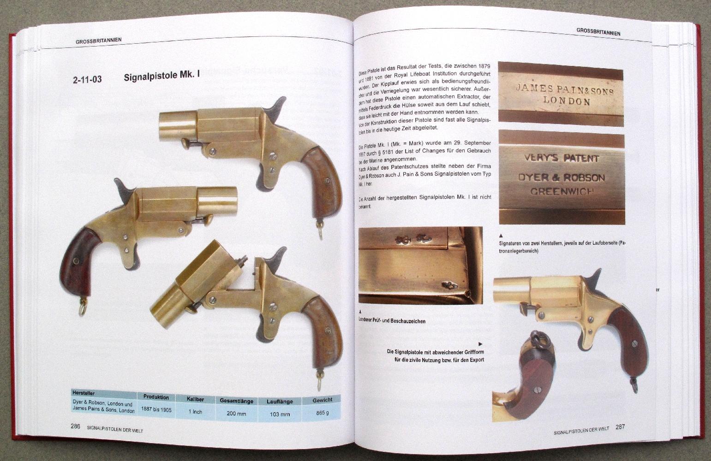 Le pistolet « Mark I » est le premier modèle de signalisation officiellement adopté par la Royal Navy le 29 septembre 1887.