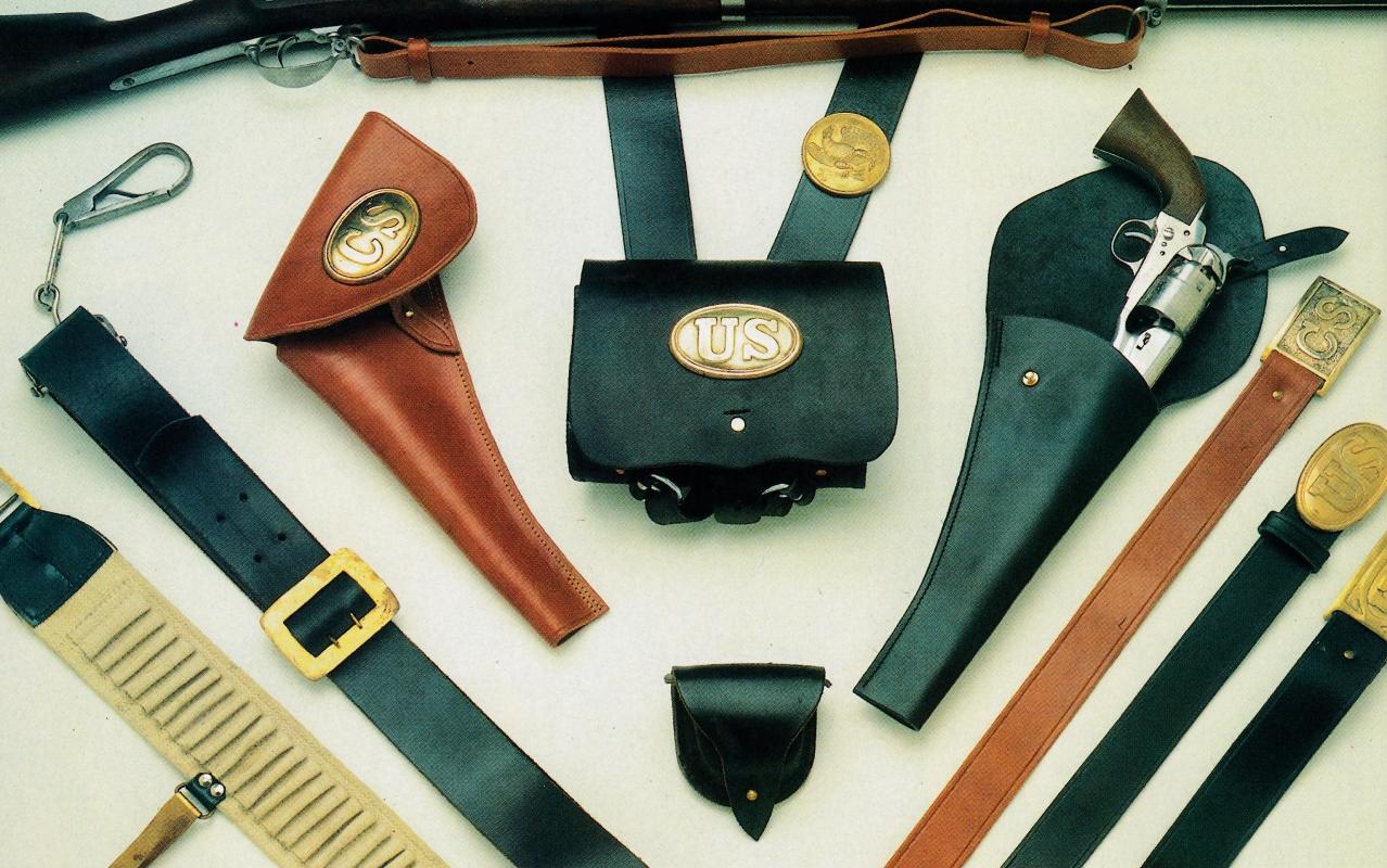 Voici un aperçu de la gamme des accessoires de buffleterie réglementaires durant la guerre de Sécession.