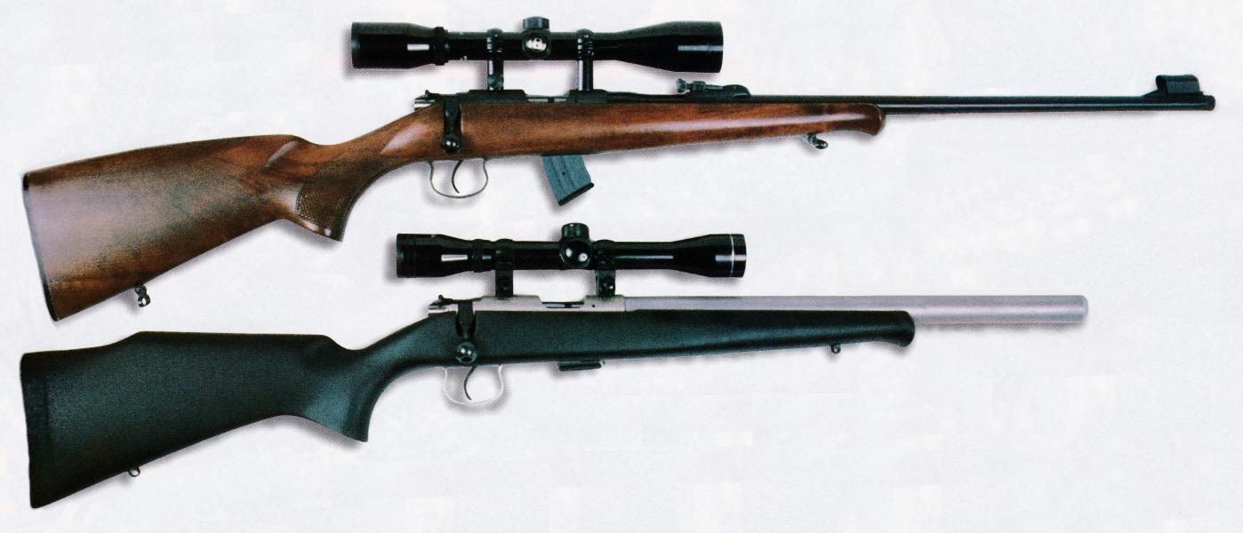 Les deux versions ont été équipées d'une lunette à grossissement 4 fois afin de pouvoir effectuer des comparaisons rigoureuses quant à la précision de leur canon.