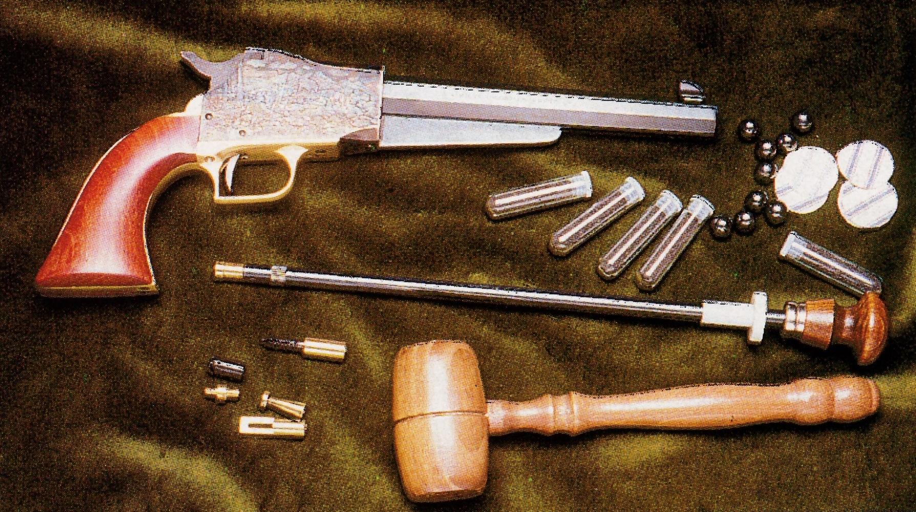 L'arme n'en possédant pas, il est indispensable de se doter d'une baguette pour le chargement.