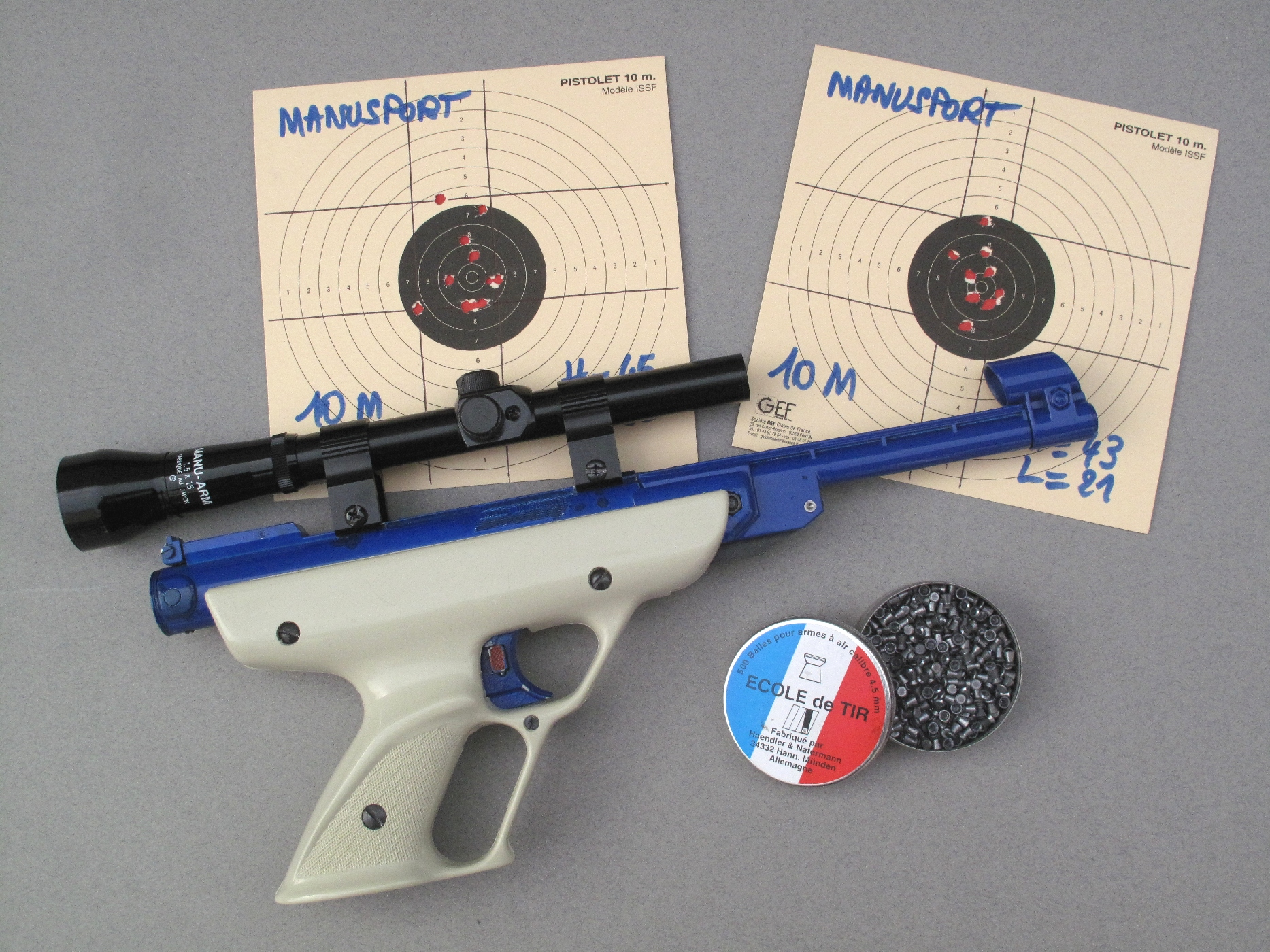 A condition de bien choisir les projectiles, il est possible d'obtenir avec ces pistolets des résultats tout à fait satisfaisants.