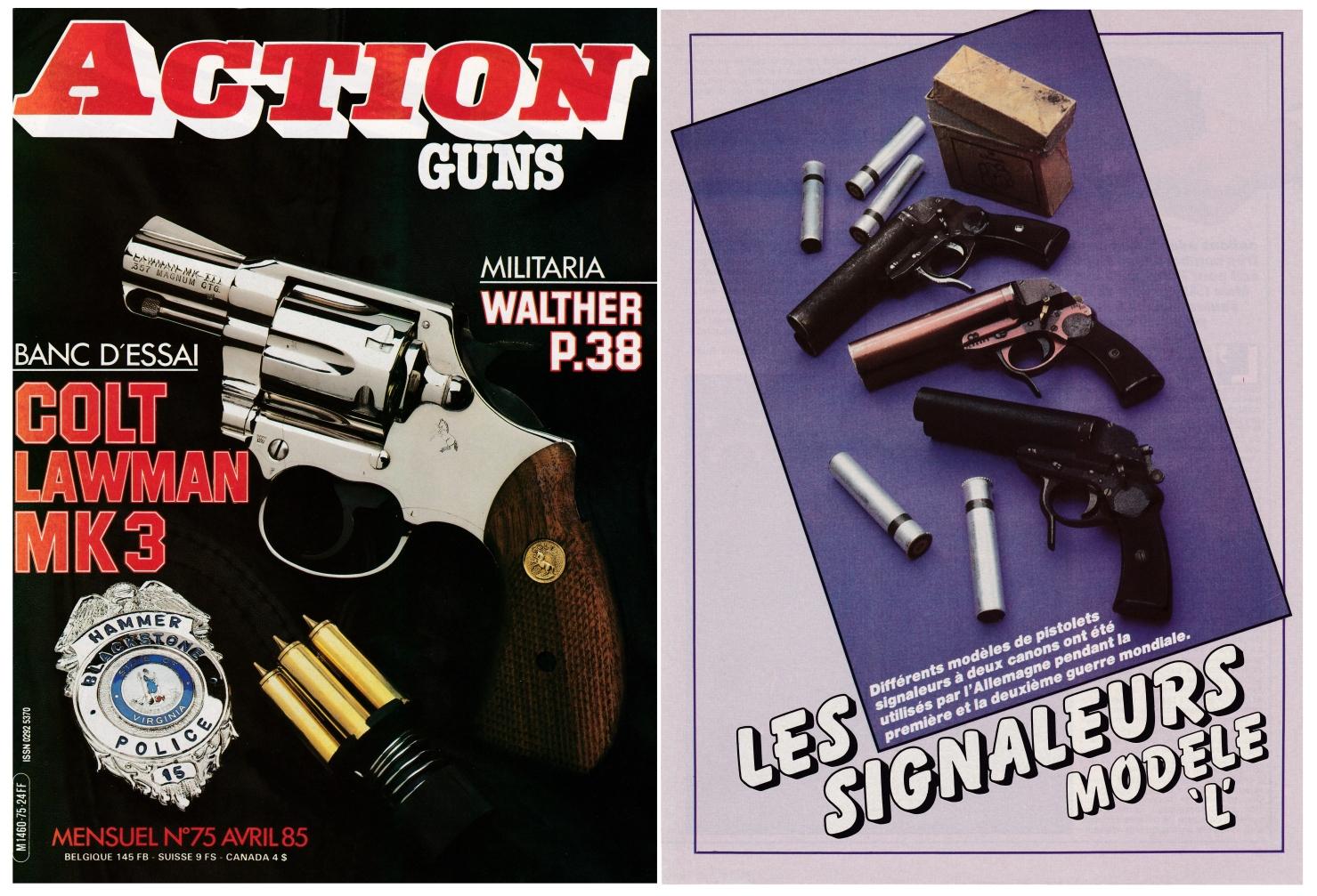 Les pistolets signaleurs allemands modèle « L » ont fait l'objet d'une publication sur 4 pages dans le magazine Action Guns N°75 (avril 1985).